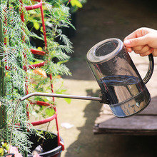1PC Plastic Watering Can Pot Stainless Steel Long Mouth Garden Flowers Plants Tool watering can gardening potted watering pot