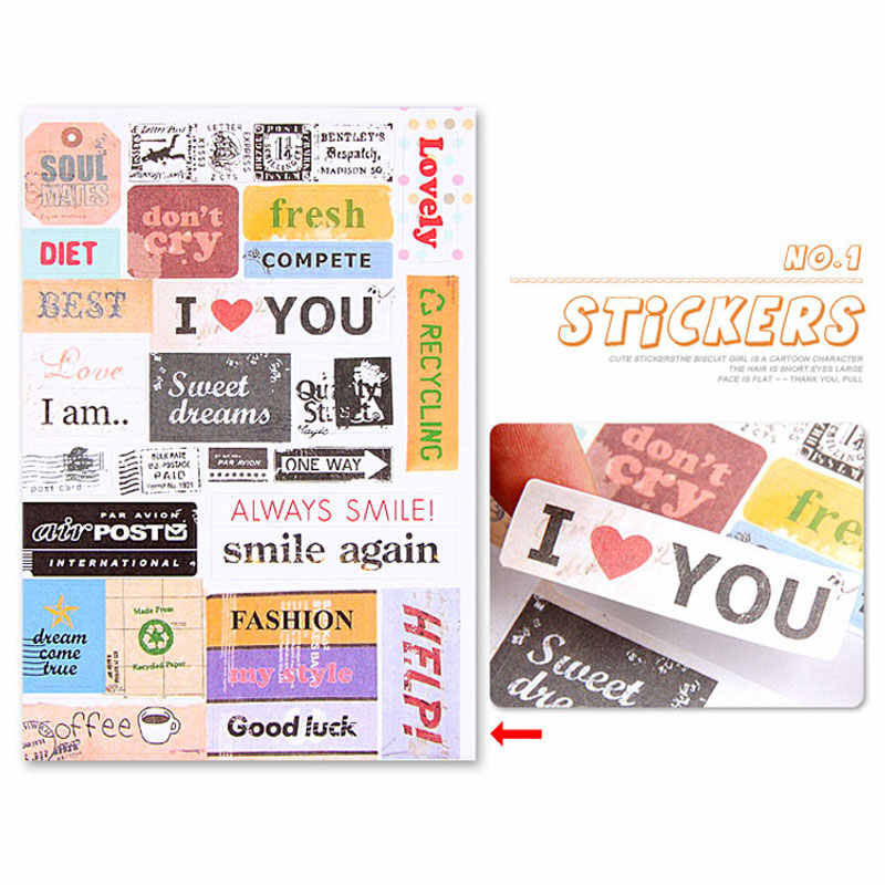 Clearance Price Cute DIY Decorative Sticker Vintage Postmark Album Accessories Decoration PVC Transparent Waterproof Sticker