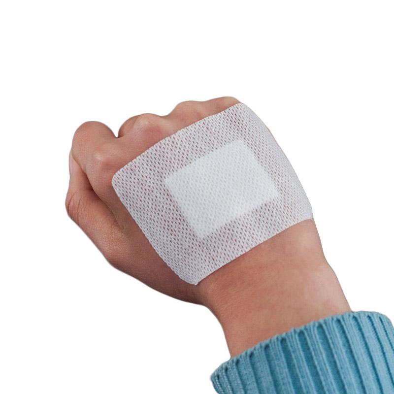 50PCs 6cmX8cm Medical Wound Dressing Tape Large Size Breathable Non-woven Hypoallergenic Band-aid Home Family First aid Supplies
