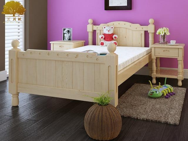 Verbeterde kinderbed!!! Grenen houten bed met rails 3 10 jaar oude ...