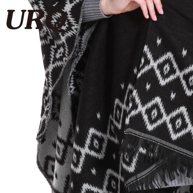 130*160 winter warm poncho for women lady print geometric fashion luxury brand design adult shawl blanket 2017 new