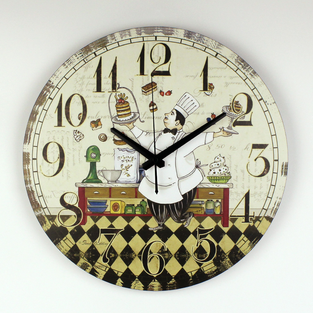 Kitchen wall clock modern design warranty 3 years cartoon for Dining hall wall decoration