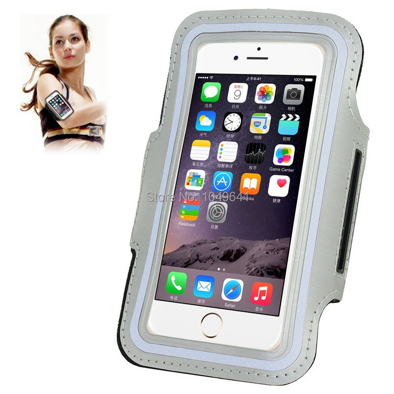 KIP6-1322G_1_Sport Armband Case with Earphone Hole & Key Pocket for iPhone 6 & 6S  HUAWEI Y3 II  ZTE Blade GF3  and Less than 4.7 inch Mobile Phone