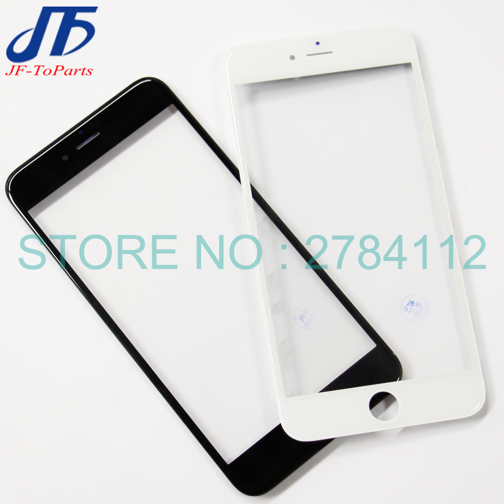 10Pcs Outer Glass with Middle Frame Bezel replacement For iPhone 7 7G 7 plus Assembled Front