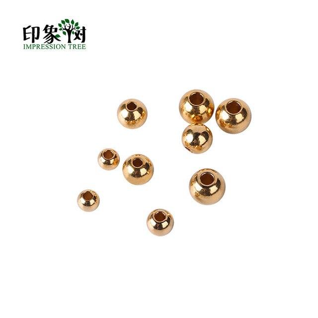 30pcs/lot Copper Plated Glass Rhinestone Ball Bead Imitate