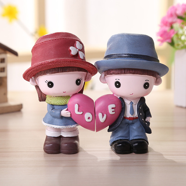 60pcspair Lovely Couple Lovers Resin Sculptures 60% Hand Made Craft Extraordinary Lovely Couple Com