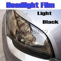 100cm High Quality Light Black Car Headlight Tint Auto Light Smoke Taillight Vinyl Film FedEx Free