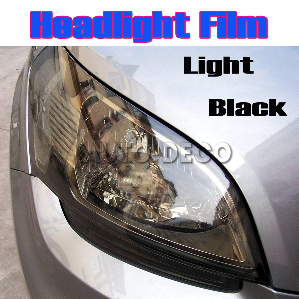 10m High Quality Light Black Car Headlight Tint Auto Light Smoke Taillight Vinyl Film FedEx Free Shipping light tint