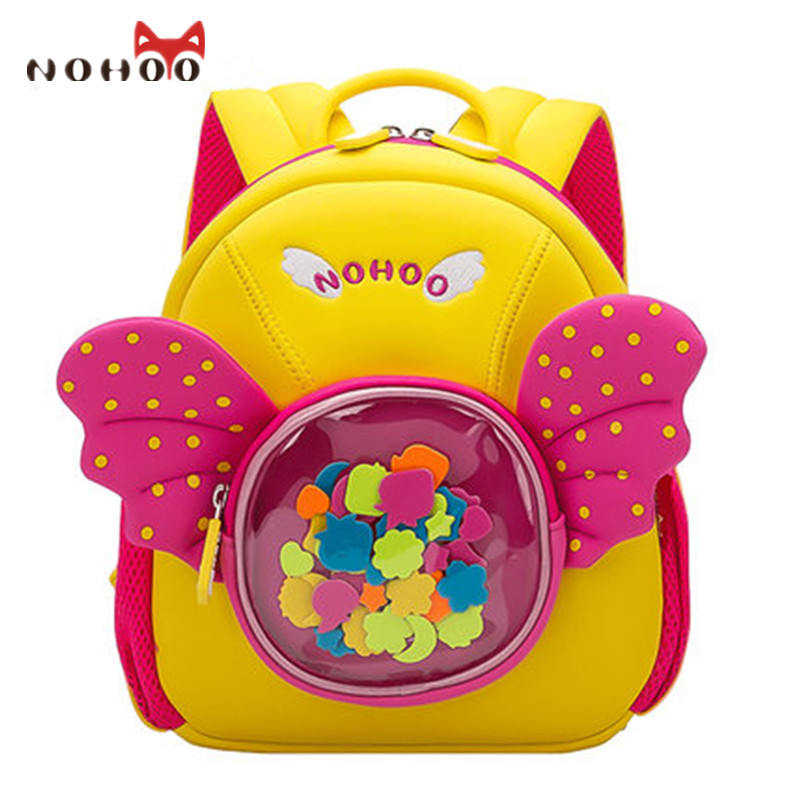 NOHOO Cute 3D Princess School Bag for Girls Waterproof Kids Baby Backpack School High Quality Book Bag Mochila Escolar