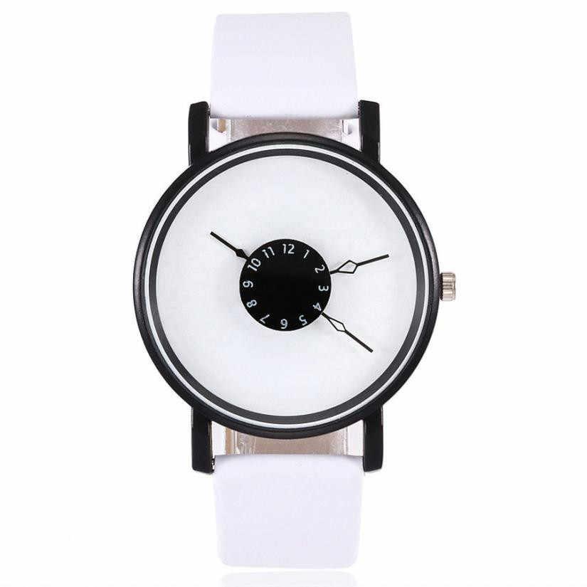 Vansvar Nữ nam Dây da Newv Dây Đeo Đồng Hồ Analog Đồng Hồ Đeo Tay nam dây reloj Hombre 2019 zegarek damski