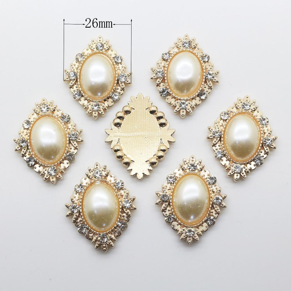 Модные 10 шт. мм 21 мм diamond сплав Diy ювелирных интимные аксессуары плоской задней имитация жемчуга база Настройки Оптовая Продажа ручное крепление