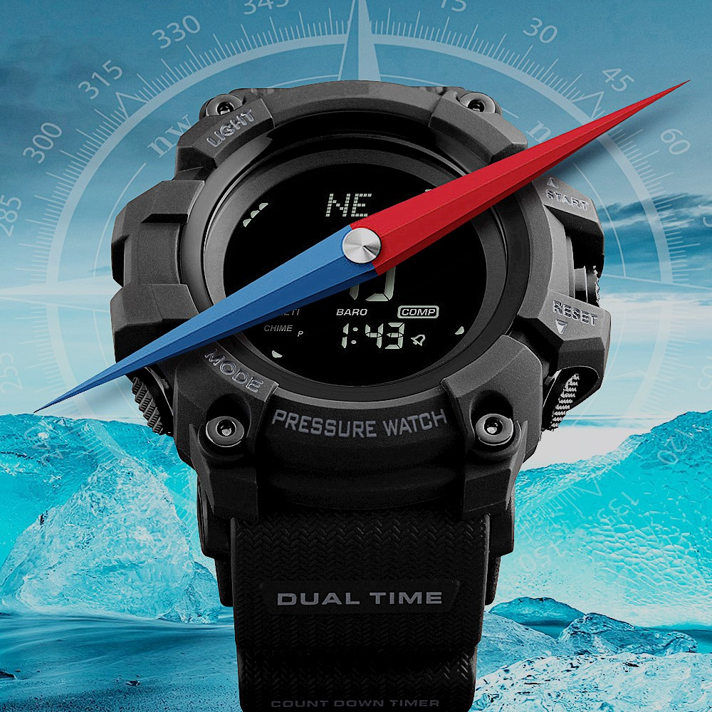 lowest price ) <font><b>skmei</b></font> Brand men sports Digital watch Altimeter Barometer Compass Thermometer smart watch image