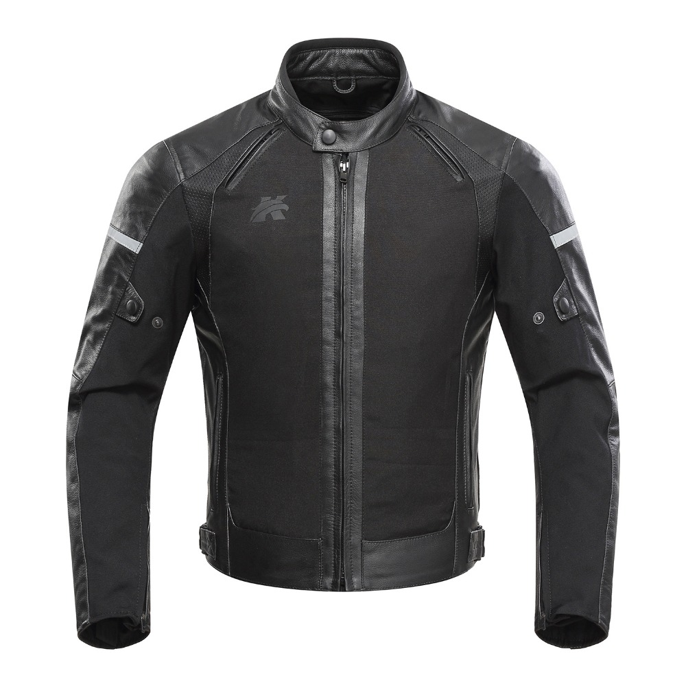 KERAKOLL cuir moto veste peau de vache moto veste protecteurs Motocross course veste hiver chaud