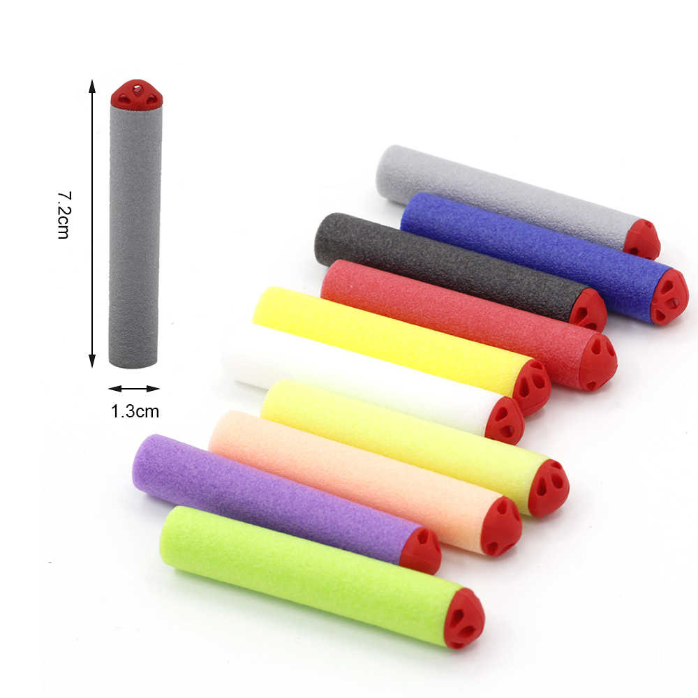 Viciviya 100PCS Voor Nerf Kogels Zachte Holle Gat Hoofd 7.2cm Refill Darts Speelgoed Pistool Kogels voor Nerf Serie blasters Goede Gift