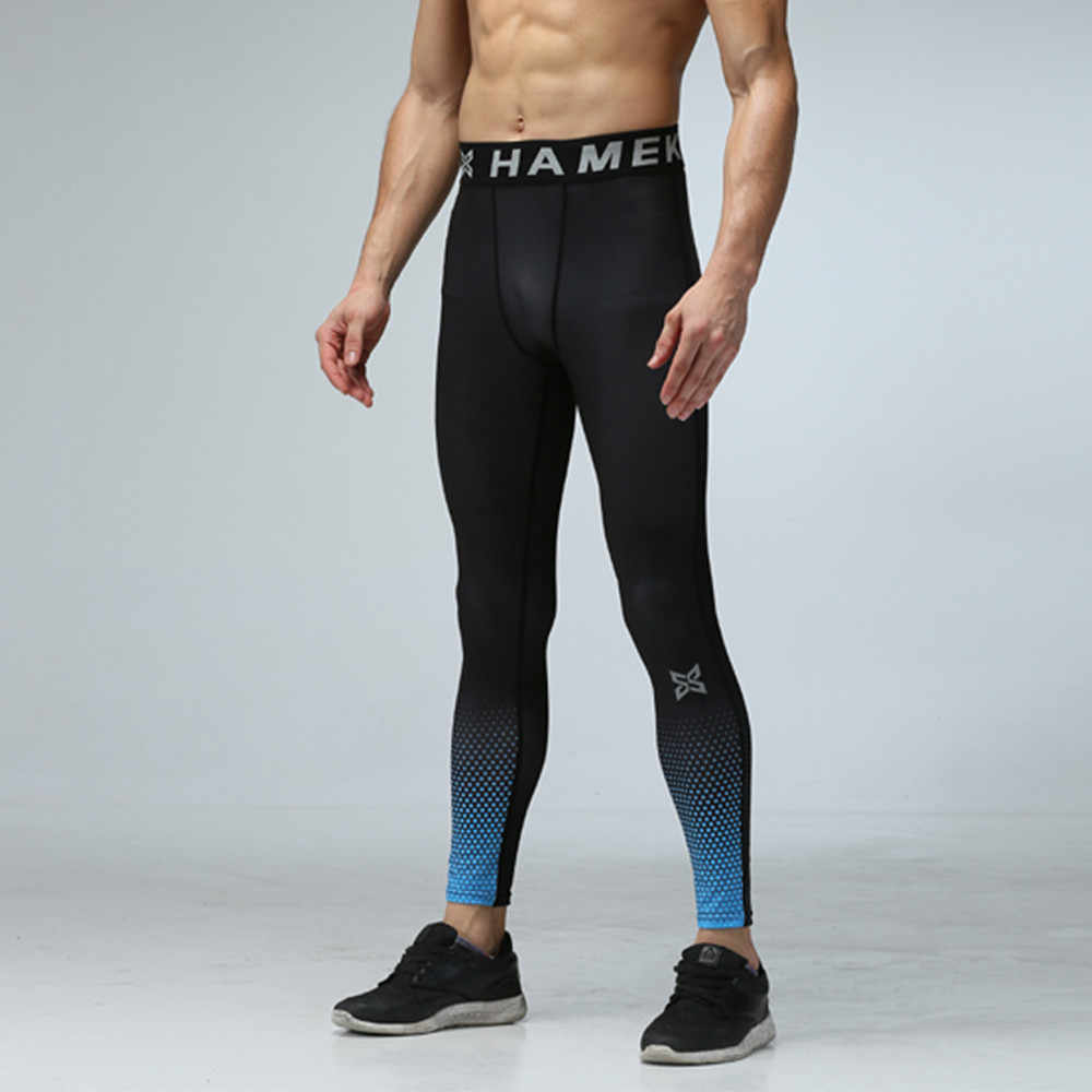 7ab8128f39 ... Men Compression Pants Sports Running Tights Jogging Soccer Basketball Leggings  Fitness Gym Clothing Trousers Shorts Bodybuilding ...
