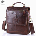 OU BA SHU 2016 Men's Business Bag Brand Genuine Leather Male Vintage Shoulder Bags Luxury Leather Handbag Men Crossbody Bag