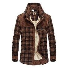 Winter mens shirt plus velvet thick business casual coat cotton large size