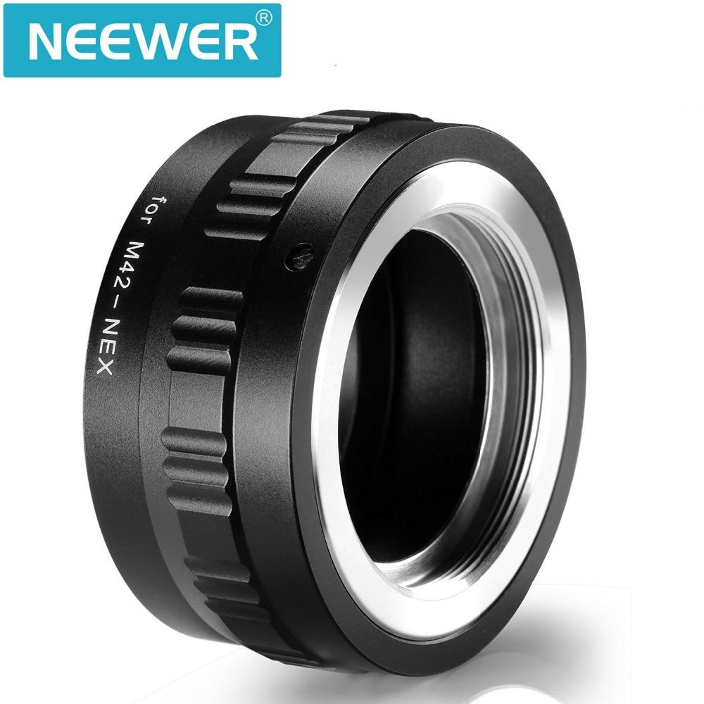 Negro Equipo fotogr/áfico Metal M42 A E-Mount Nex Adaptador Lente de Tornillo para Sony Micro Camera Body Nex7 Nex5 Nex6