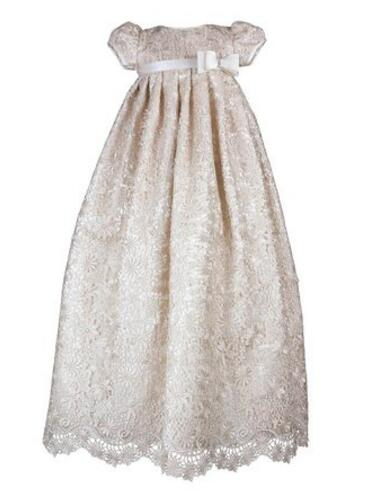 Newborn Baptism Gown Baby Girl Christening Dress White/Ivory Lace Robe 0-24month 2016 baby infant baptism gown baby girl christening dress white ivory lace applique robe 0 24month