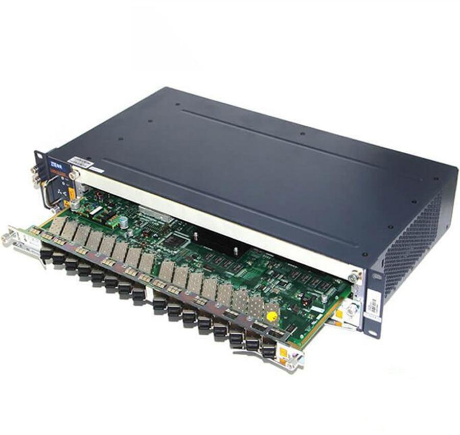 ZTE Mini OLT C320 1GE SMXA 10G SXMA/3 Control Card 16 Ports GTGH 8 Ports GTGO C+ Service Board AC+DC Power Supply