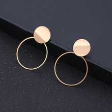Fashion Statement Earrings For Women Geometric Circular Hanging Dangle Earings Drop Jewelry 2019
