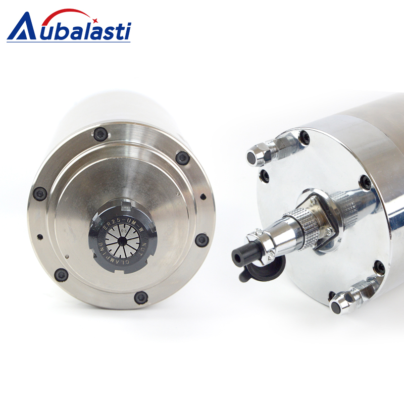 4.5KW Spindle CNC Router Spindle Motor 220 380V 8A Machine Tool Spindle ER25 Diameter 125mm For CNC Milling Router Machines
