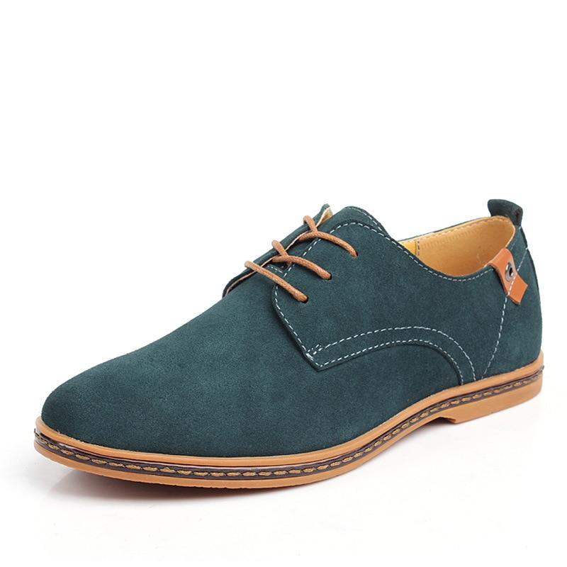 Fashion atas sepatu kasual pria 2018 Flat musim panas baru renda up - Sepatu Pria - Foto 1