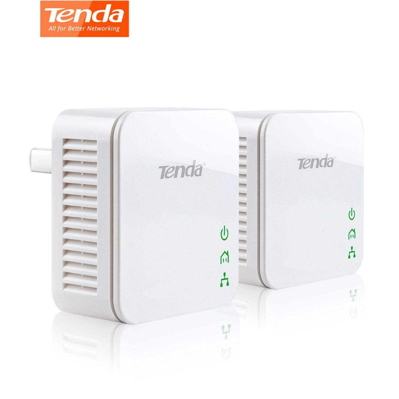 1 Pair Tenda P202 AV200 Powerline 200Mbps Mini PowerLine Adapter Compliant With HomePlug AV Power Saving Mode