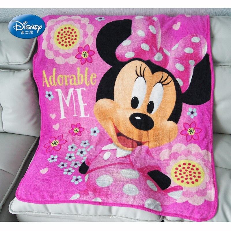 Disney Cartoon Minnie Mouse Blanket Thorw 102x127cm For
