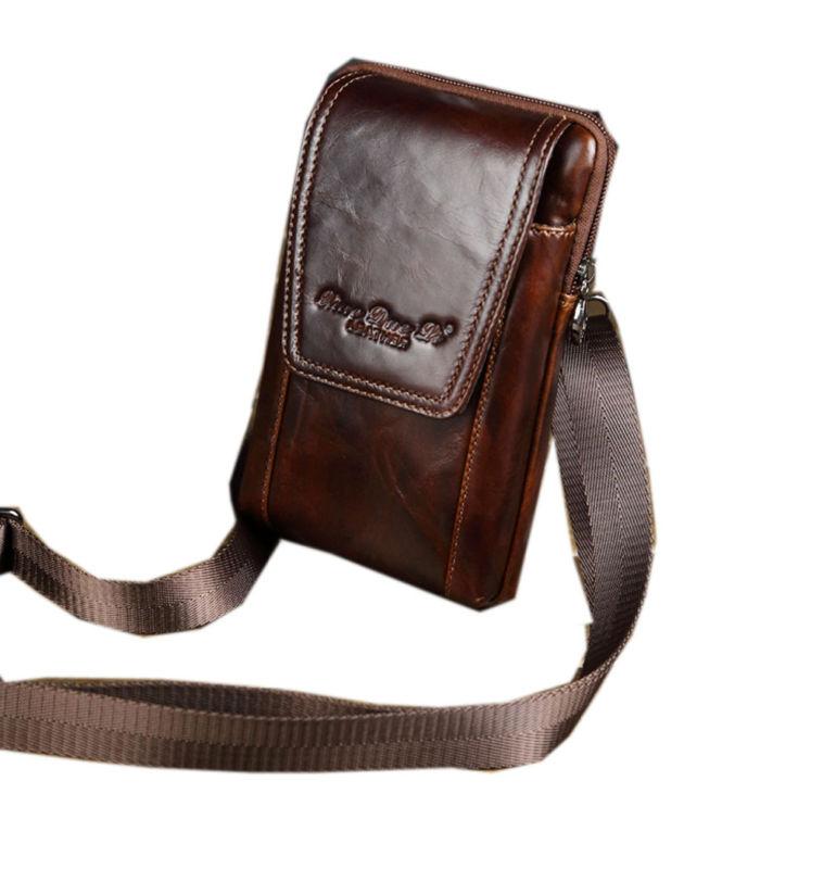 Pack Belt Shoulder Messenger fashion Fanny Leather Men Bag Genuine Hook Waist men s vintage pu leather hook belt buckle shoulder messenger crossbody fanny waist bag wallet belt pouch bag