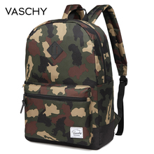 VASCHY Men Camo Backpack Fashion Casual Teens School Bags Fits 15inch Laptop Sleeve Men Backpack High Quality