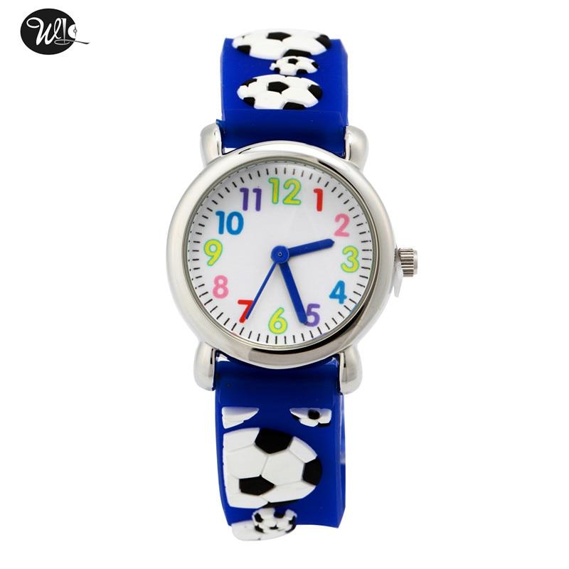 Children's Watch 3D Strap Cartoon Boy Girl Soccer Quartz Watch Pointer Electronic Waterproof Watch Child Watch