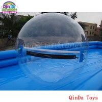 Бесплатный воздушный насос для прозрачной прогулки на водяном шаре, надувной шар для ходьбы по воде для бассейна
