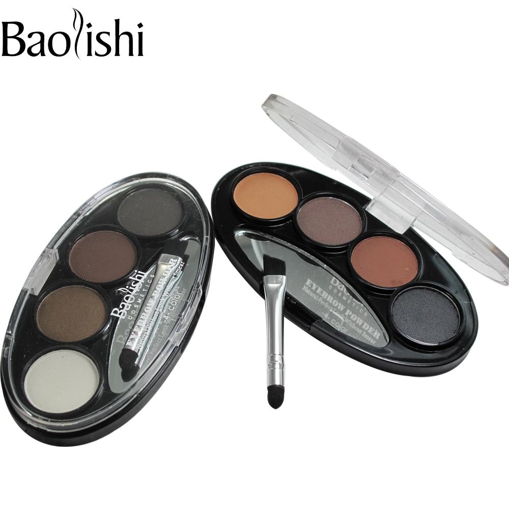 baolishi 4 culori naturale de lungă durată rezistent la apă sprâncene putere negru ochi negru Shaper cosmetice machiaj unealtă
