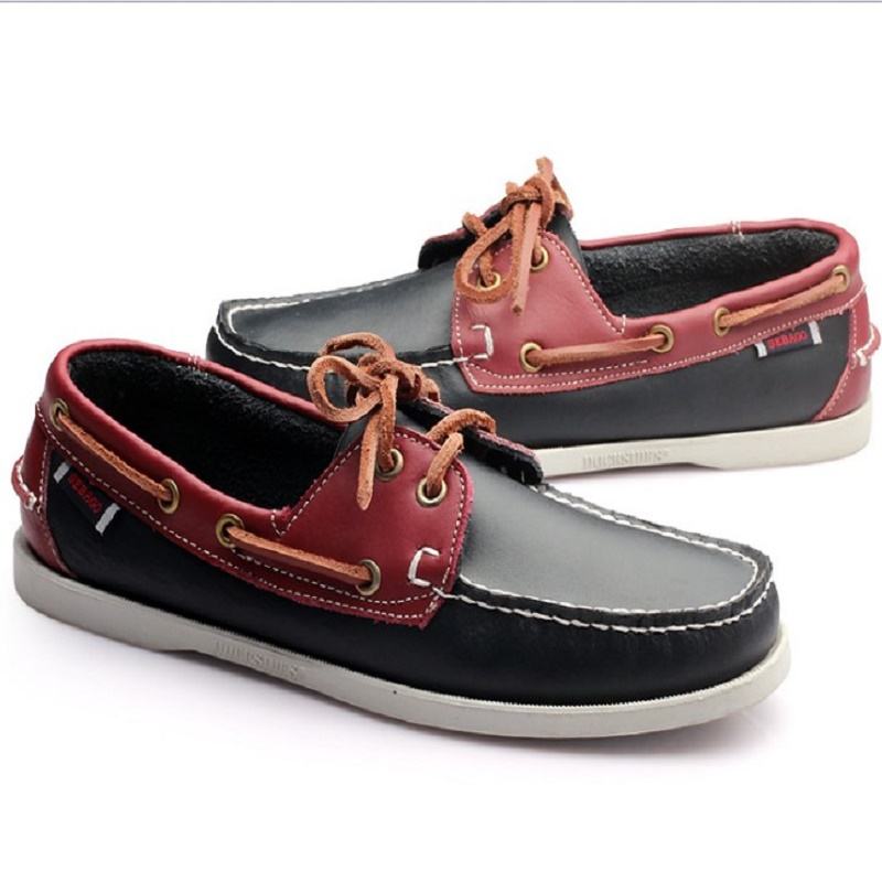 New boat shoes chaussure homme de marque sapato masculino men shoes leather
