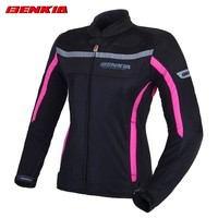 BENKIA JW32 Motorcycle Jackets Women's Protective Mesh Moto Jacket Riding Equipment Gear Summer Breathable Motorcycle Clothing