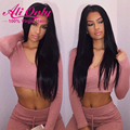 Alionly Peruvian Straight Hair With Closure Peruvian Virgin Hair With Clousre 3 Bundles Straight Human Hair Bundles With Closure