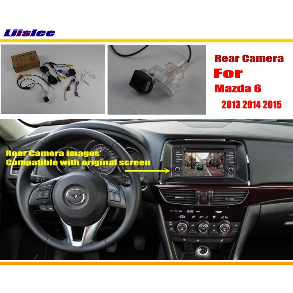 Liislee Auto Achteruitrijcamera / Reverse Camera Sets Voor Mazda 6 Mazda6 / Mazda Atenza 2012 ~ 2014 RCA & Originele Scherm Compatibel