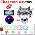 Free Shipping! Cheerson CX-10W Mini Wifi FPV 0.3MP Cam 2.4G 4CH Quadcopter+5xGuard Cover+Blades