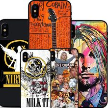 Nirvana Kurt Cobain Rock and roll Band Kurt Cobain phone Case Cover For iPhone 5S SE 6 6S Plus 7 7Plus 8 8plus X Cover Case(China)