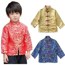 Chinese Style Children Jacket Tang Suit Spring Festival Cardigan For Baby Boy Coat Outfits Kid Outwear Holiday Costumes Top 4-16