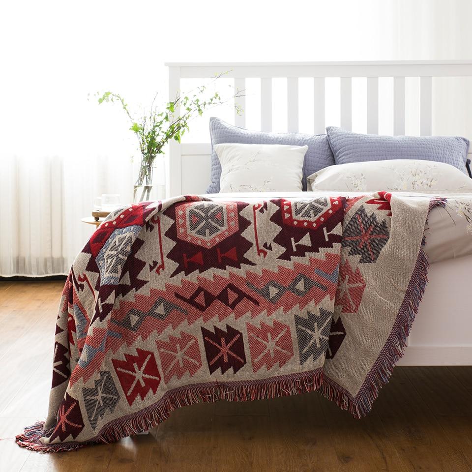 綿房ヴィンテージベビーブランケットスローに/ベッド/飛行機旅行毛布ホット緊急ニットヴィンテージ毛布  グループ上の ホーム&ガーデン からの 毛布 の中 2