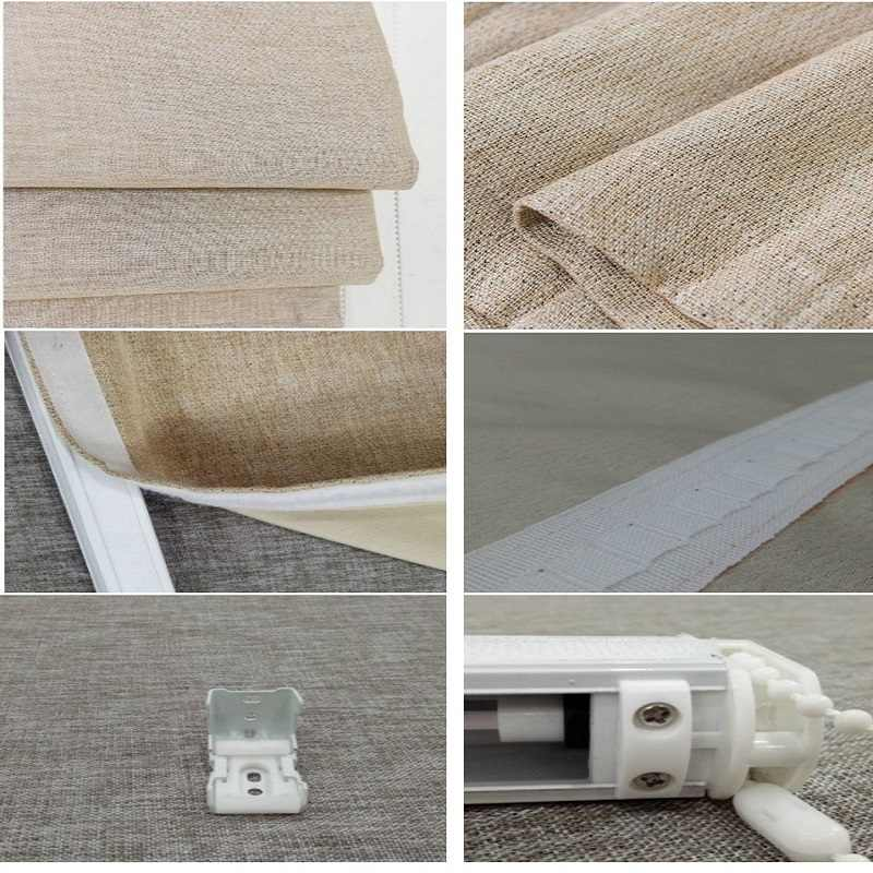 Window linen Blackout Roman Blinds Curtain Manual Chain Control Customize Size RM14