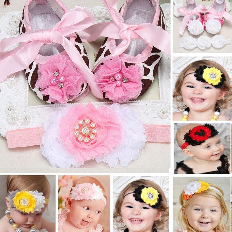2015 Bebés de marca Conjunto Diadema niño los zapatos de bebé, zapatos infantile