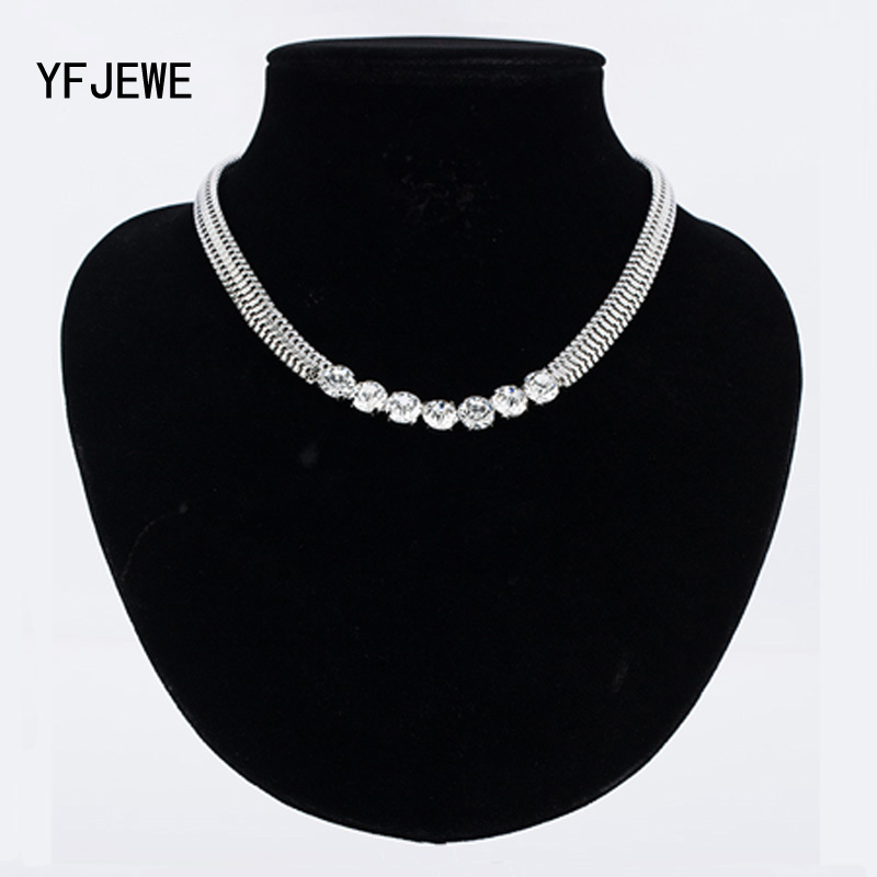 YFJEWE Brand Crystal Simple Vintage Necklace Jewelry Wholesale High Quality Chain For Women Jewelry Christmas Gift Necklace N319