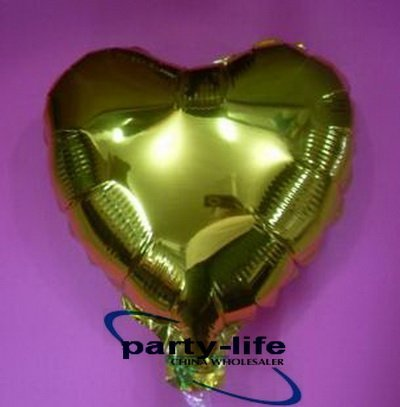 18 inch Heart shape HELIUM Foil Balloons For Wedding Party Yellow,500pcs/lot