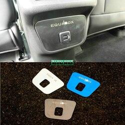 Interior do carro traseiro ventilação de ar capa guarnição quadro de saída do carro-estilo do carro para chevrolet holden equinox terceiro ge 2018 2019 2020