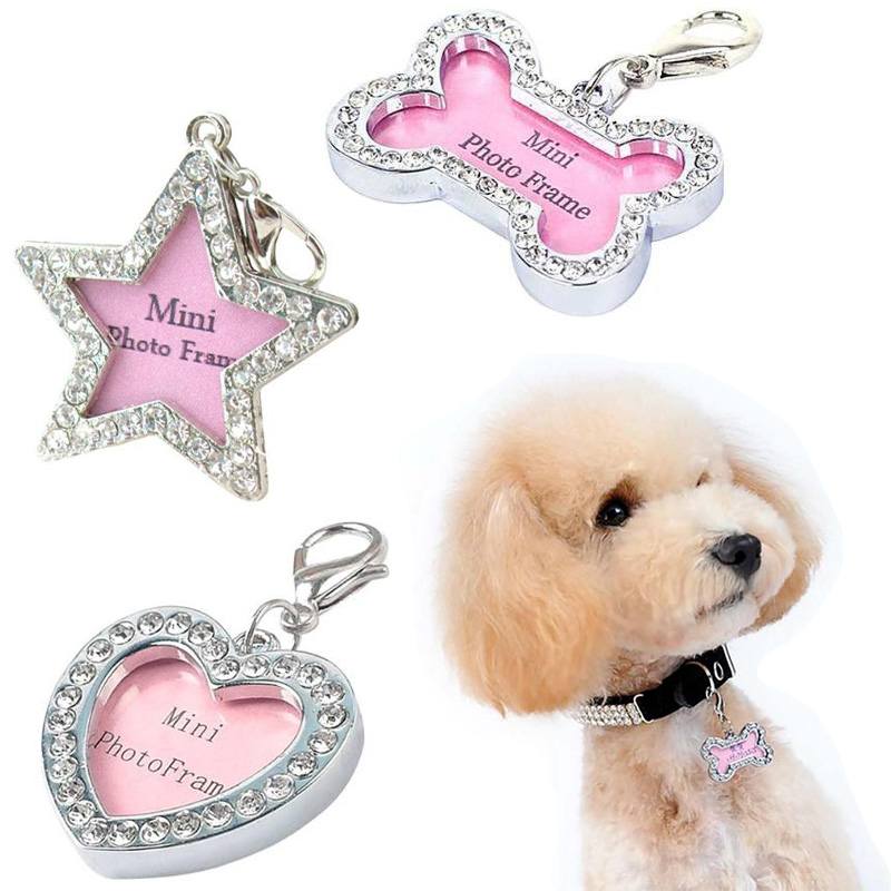 Pendant For Cat Puppy Anti-Lost-Card Bone/star/Heart-shape Pet-Dog-Accessories Tag Engraved