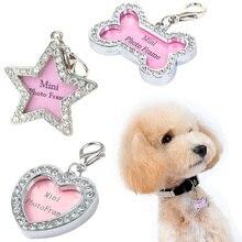 Выгравированная ПЭТ кличка подсветка-поводок для собаки для кошки щенка Анти-потери карты кости/звезды/формы сердца аксессуары для домашних животных, собак