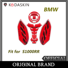 KODASKIN 3D Printing Gas Cap Fuel Tank Pad Sticker Decal Protection for BMW S1000RR Red Color kodaskin 3d printing gas cap fuel tank pad sticker decal protection for duke390 2012 2016